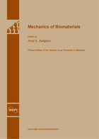 Special issue Mechanics of Biomaterials book cover image
