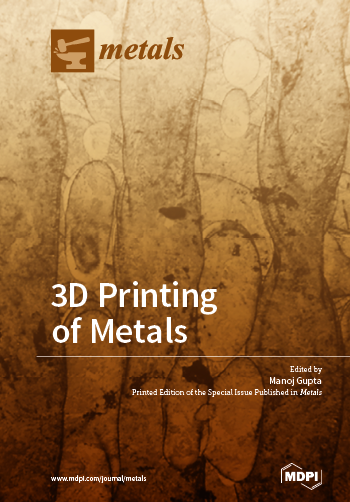 Special issue 3D Printing of Metals book cover image