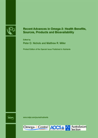 Special issue Recent Advances in Omega-3: Health Benefits, Sources, Products and Bioavailability book cover image